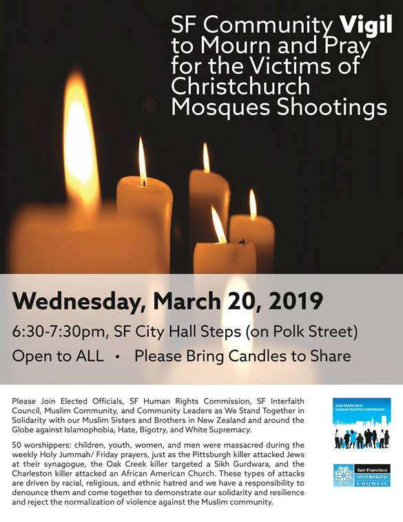 Pray and Mourn Mosque Shooting Victims