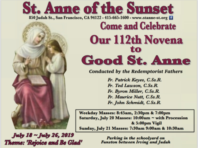 2019 Novena to Good St. Anne