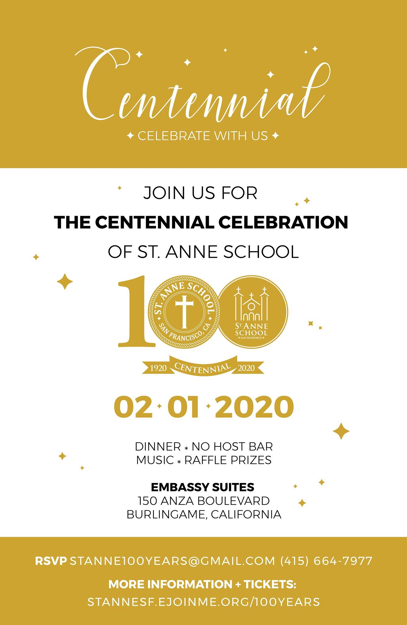 St. Anne School Centennial Gala: Buy Tickets Now