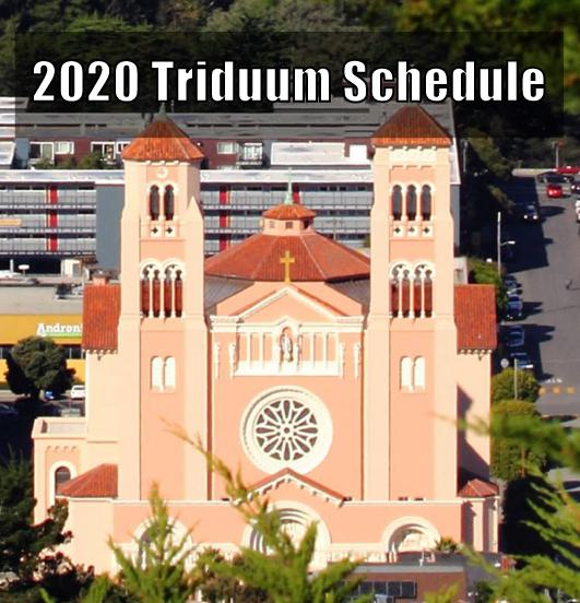 2020 Triduum Schedule