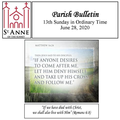 Bulletin June 28, 2020