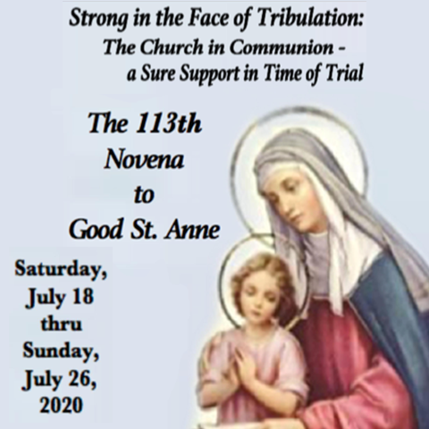 Novena to Good St. Anne 2020