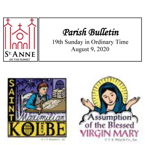 Bulletin August 9, 2020