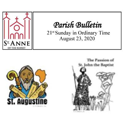 Bulletin August 23, 2020