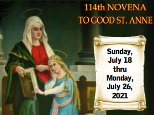 114th Novena to Good St. Anne